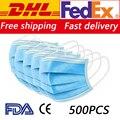 Gratis DHL Fedex 100/200/500/1000/2000/5000 Uds mascarillas faciales desechables mascarilla protectora de seguridad para la boca CE FDA