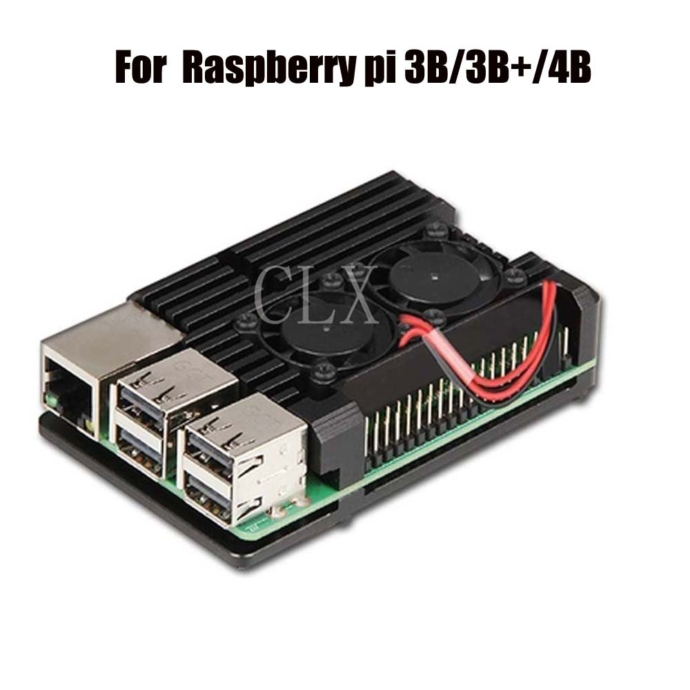 Raspberry Pi 3 Model B+/ 3B/4B Armor Aluminum Alloy Case Protective Shell Metal Enclosure For Raspberry Pi 3 Model B+/3B/4B