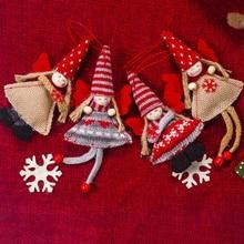 2019 Cloth Angel Girl Christmas Decoration Kawaii Tree Pendant Closet Hanging New Year