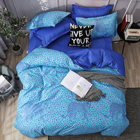 leopard print comforter bedding sets blue duvet cover set bed sheets and pillowcases twin queen king size bedding set bedspread