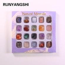 20 Stks/set Natuurlijke Steen Mineraalstukken Onregelmatige Ruwe Stones Rock Crystal Collection Onderzoek En Onderwijs Home Decor