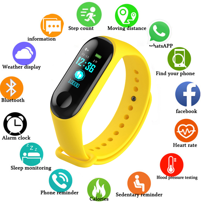 Bracelet Women Watch Running-Tracker Activity Color-Screen Heart-Rate Fitness Sport Android