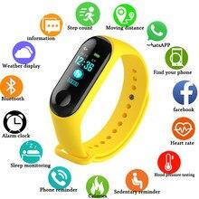 Fitness M3 kolorowy ekran inteligentna bransoletka sportowa aktywność Running Tracker tętno dla dzieci zegarki damskie męskie dla IOS Android M4
