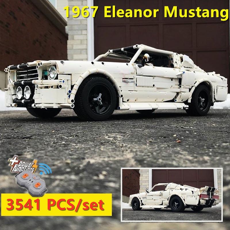 2019 nuevo clásico 1967 Ford Eleonor Mustang Racing Car fit Technic MOC-14616 bloques de construcción para chico Juguetes DIY regalo de cumpleaños