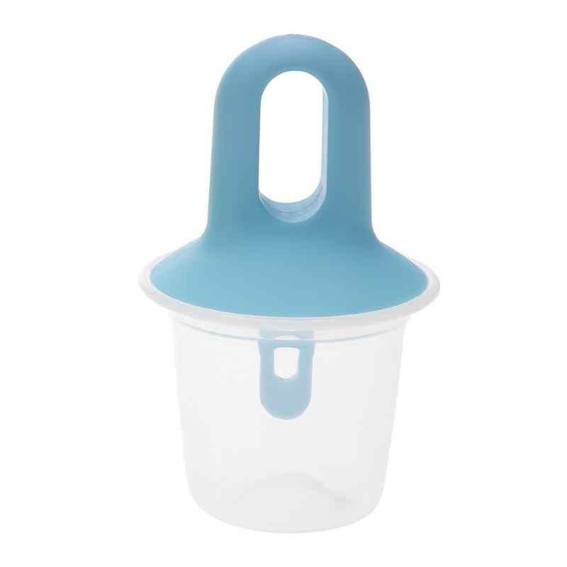 1Pcs พลาสติก DIY Ice Cream Moulds แช่แข็ง ICE CUBE อ่าง Maker แม่พิมพ์ถาด PAN KITCHEN TOOL 3 สี ICE ครีม Popsicle Maker