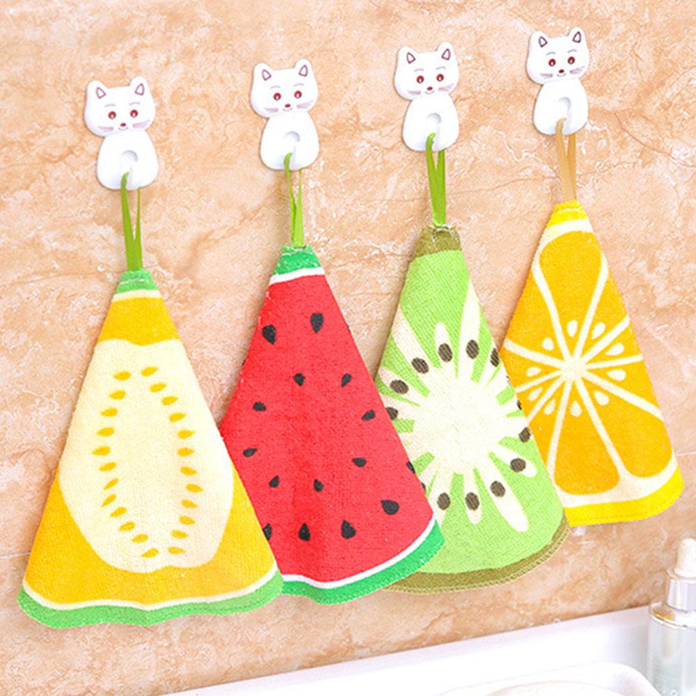 Салфетка для мытья посуды, полотенца Мини Kawaii С мультипликационным рисунком, аксессуары для апельсиновых фруктов, товары для мытья, бытовые кухонные принадлежности