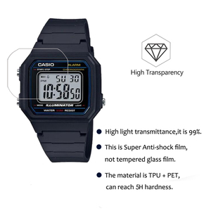 Image 5 - 3Pcs PET Nano Explosion proof Film For Casio W 217 W217 Smartwatch Screen Protector LCD Anti shock HD Clear Guard Film Not Glass