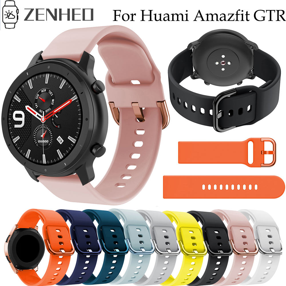 <font><b>20mm</b></font> 22mm Sport Watchband <font><b>Strap</b></font> for Xiaomi Huami Amazfit GTR 47mm Stratos 2 2S <font><b>Watch</b></font> Band Belt for Amazfit GTR 42mm <font><b>GTS</b></font> image
