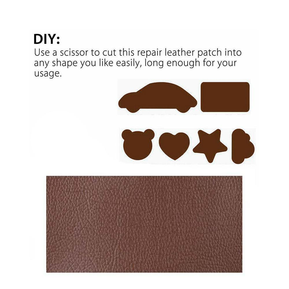 Black Cutepuppy Leather Patch Repair Tape Leather Adhesive for Sofas//Car Seats//Handbags//Jackets