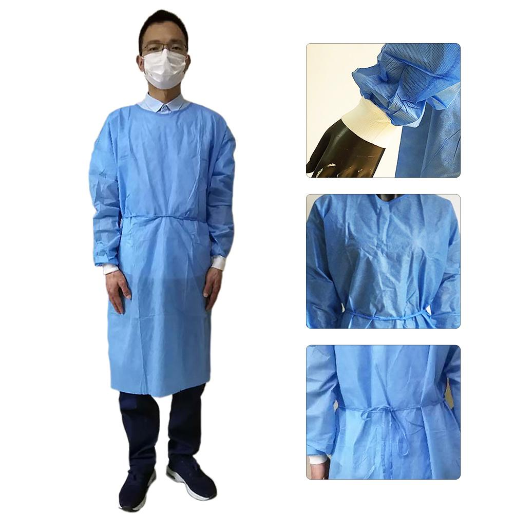 1Pc Disposable Non Woven Dustproof Breathable Isolation Gown Protection Suit