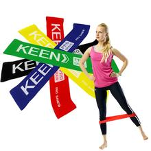 цена fitness resistance belt Yoga Resistance Rubber Bands Outdoor Fitness Equipment Pilates Sport Training Workout Elastic Bands онлайн в 2017 году