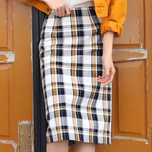 New authentic Plaid fashion casual bag hip all over skirt in spring 2020(China)