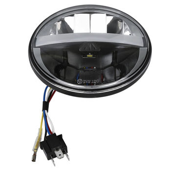 "5 3/4"" 5.75"" LED Headlamp Headlight For Harley Dyna Street Fat Bob Super Glide Switchback VRSCD VRSCD VRSCDX XG500 750 FLD FLSTS"