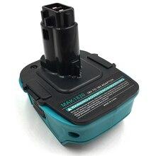 MAK1820 adaptörü dönüştürücü Makita 18V Li Ion pil BL1830 BL1860 Dewalt DC9096 ni cd Ni Mh pil araçları