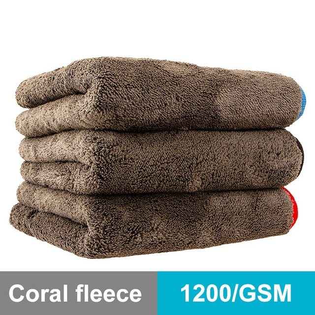 Car Cleaning Towel 1200GSM Car Detailing 40*40cm 60*90cm Microfiber Drying Towels Auto Polishing Tool Car Wash Cloth Accessories