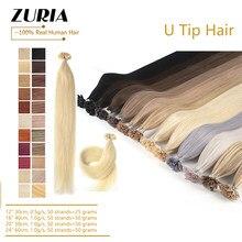 Zuria u ponta extensões de cabelo fusão cabelo balayage cor queratina cola grânulos pré-ligado cabelo humano extensiones máquina remy cabelo 50g