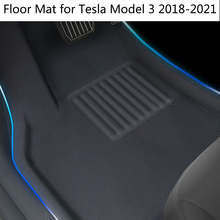 Floor mats for Tesla Model 3 2018-2021 waterproof wear-resisting environment protection XPE TPE foot pad trunk mat mats