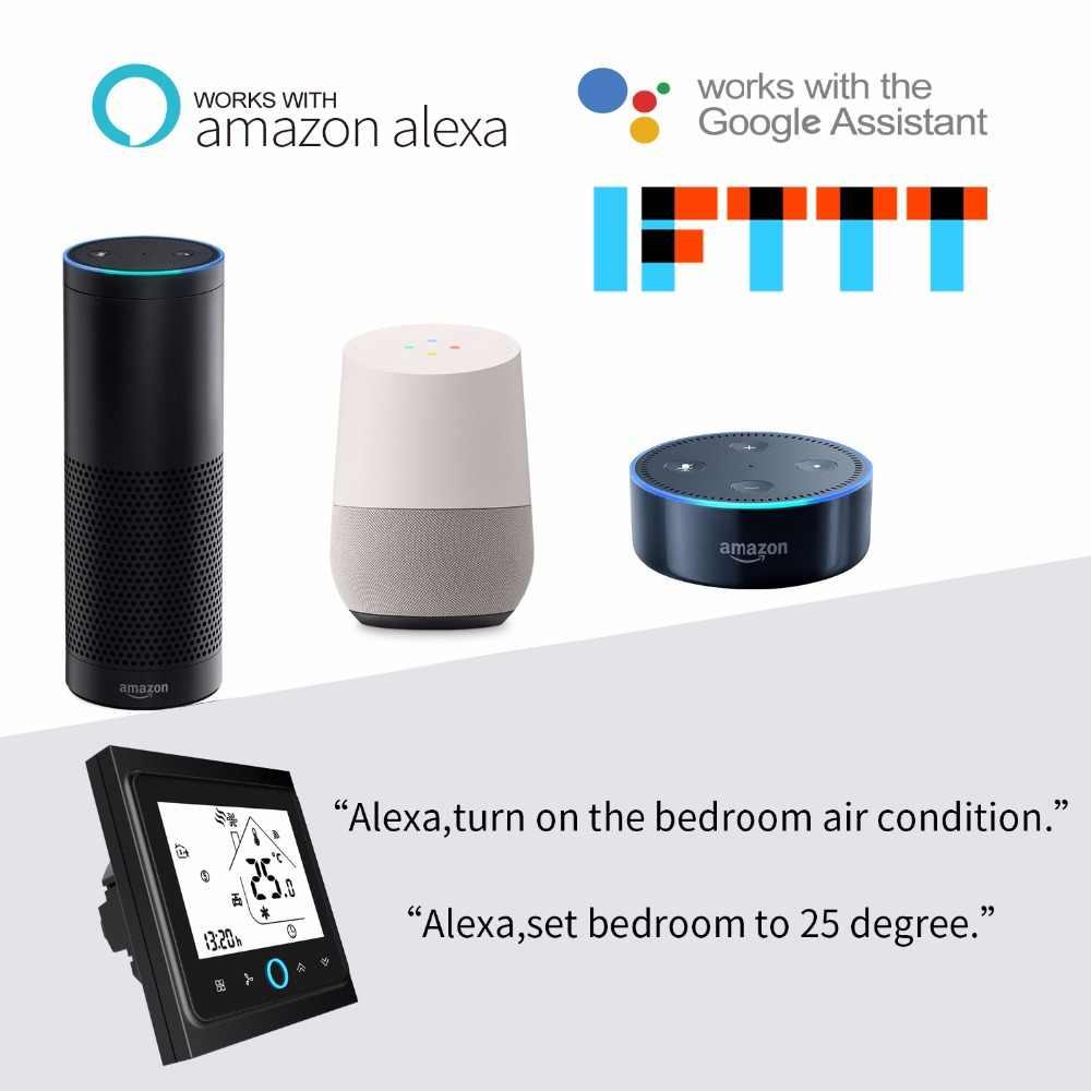 WiFi inteligentny termostat regulator temperatury do wody/elektryczne ogrzewanie podłogowe woda/kocioł gazowy współpracuje z Alexa Google Home