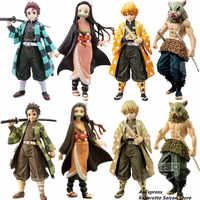 Dämon Slayer Kimetsu keine Yaiba Tanjirou Nezuko Zenitsu Inosuke PVC Action-figuren Spielzeug Dämon Slayer Anime Figur Spielzeug