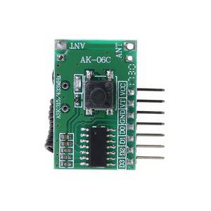 Image 2 - AK 06C bezprzewodowy szeroki zakres napięcia kodowania nadajnik dekodowania odbiornik 4 kanałowy moduł wyjściowy dla 315/433Mhz zdalnego sterowania