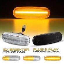 2 sztuk dla Fiat wskaźnik przepływu światła obrysowe LED sygnał świetlny dla Fiorino 3 Grande Punto Evo Panda69 Doblo Idea Linea Stilo
