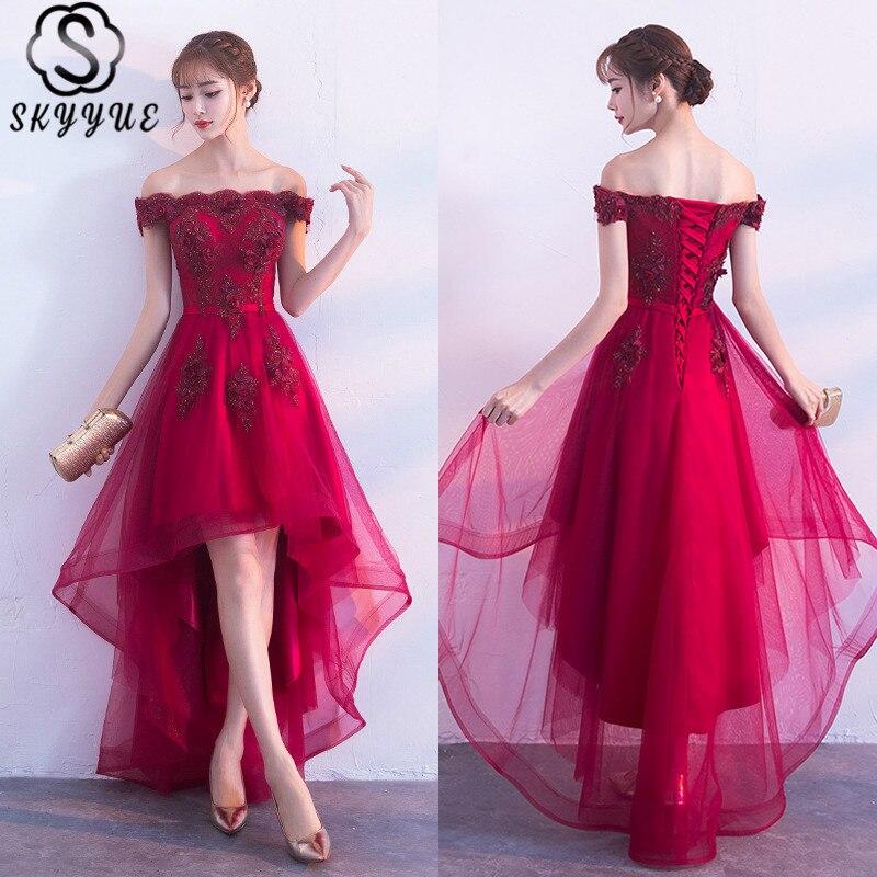 Skyyue коктейльное платье с открытыми плечами, без рукавов, с аппликациями, размера плюс, с цветочным принтом, женское, H063