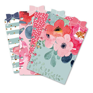 New Arrive 4 Sheets Dividers Cute A5 A6 A7 Spiral Notebook Loose Leaf Separator Pages Inside Pages