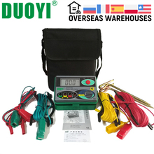 Megohmmeter 0-2000 Ohm Real Digital Earth Ground Resistance Meter Tester DY4100 Instruments Car Repair Inspection Electrician