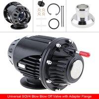 Universal Black 4 IV Bov Turbo Pull Typ Blow Off Ventil Bov Abgas Ventil BOV mit Adapter Flansch Geeignet für autos