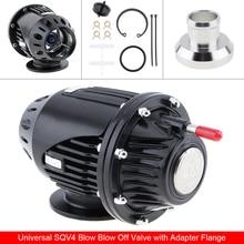 Universal Black SQV4 SQV 4 IV Bov Turbo Pull-Type Blow Off Valve Bov Exhaust Valve BOV with Adapter Flange