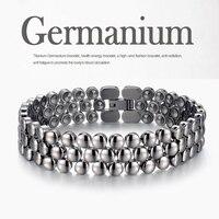 Mesinya 99.9999% Germanium beads Titanium Energy Bracelet Healthy Therapy Bracelet for Men Women Tool Gift Jewelry Box Included