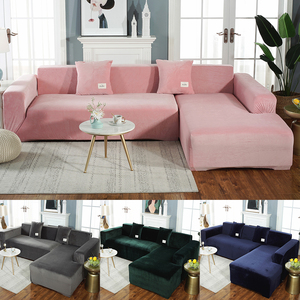 Meijuner Sofa Cover Solid Color Thick Velvet Sofa Cover Elastic Universal Slipcover All-inclusive Couch Cover Dining RoomY414(China)