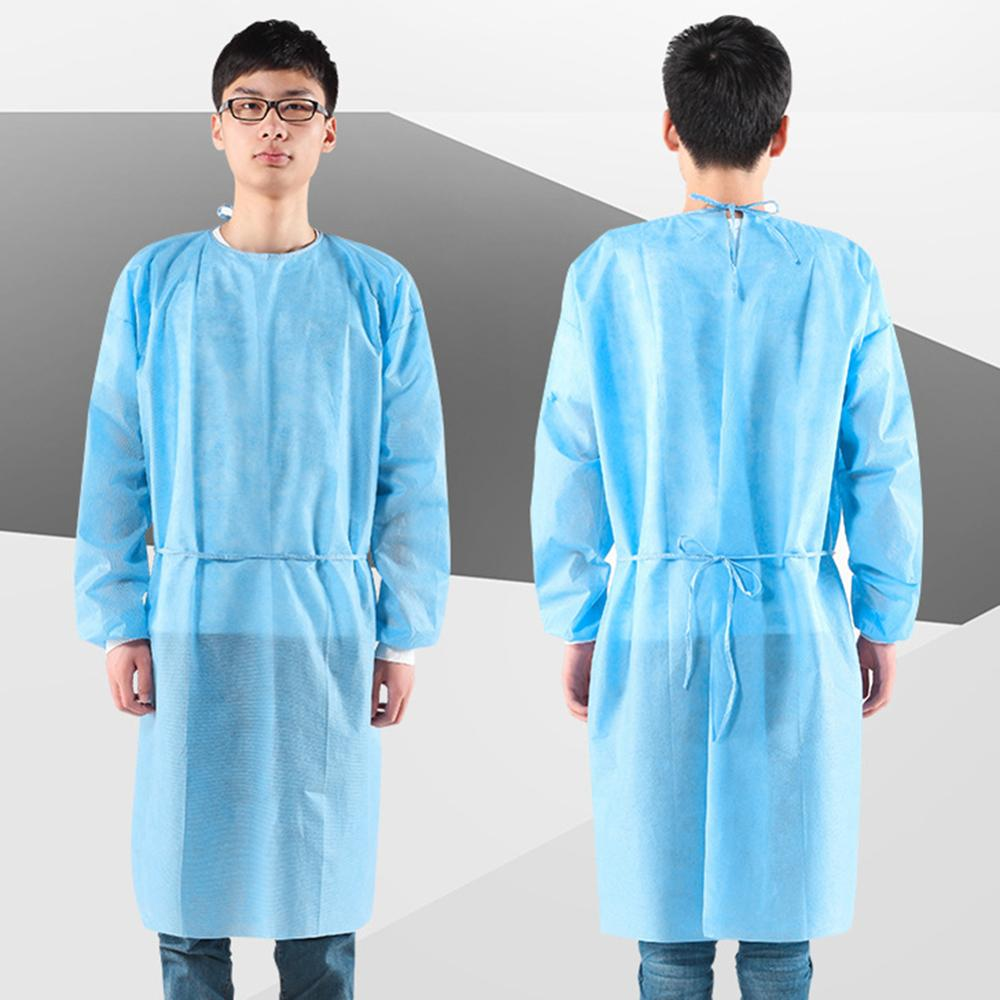 1/10Pcs Unisex Disposable Clothing Factory Hospital Coverall Protection Suit Isolation Gown