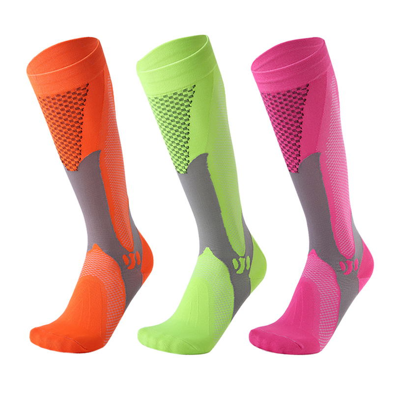 Image 2 - Long Tube Compression Stockings For Men And Women Marathon Outdoor Sports Socks Adult Running cycing pilates Compression Socks-in Hiking Socks from Sports & Entertainment