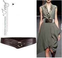 Dame Mode Leder Gürtel Weibliche Einfache Echtes Breiten Studenten Freizeit Kleid Unten Jacke Bund