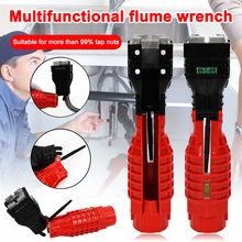 18 in 1 Faucet Wrench Multifunctional Anti-slip Double Head Sink Installer with Level Bubbles Magnet Flume Wrench Plumbing Tool