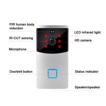 Smart Intercom WI-FI Video Phone Door Bell Camera PIR IR Alarm for Apartments SP99