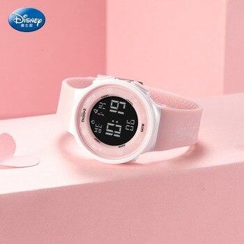 Disney Multi-functional Sports Girls Wristwatch Frozen Waterproof Digital Watch Kids Watches Girls Watch for Kids Children 3Bar
