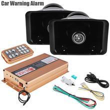 2Pcs Politie Sirene Hoorn Luidspreker 400W 18 Tone Loud Auto Waarschuwing Alarm Auto Hoorn 12V Met Mic systeem En Draadloze Afstandsbediening