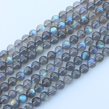 AAA Natural Labradorite  Stone Beads Round Loose 15 Semi Preicous Strand  5 6 7  MM Beads for Jewelry Making DIY Bra 15 5 strand natural white