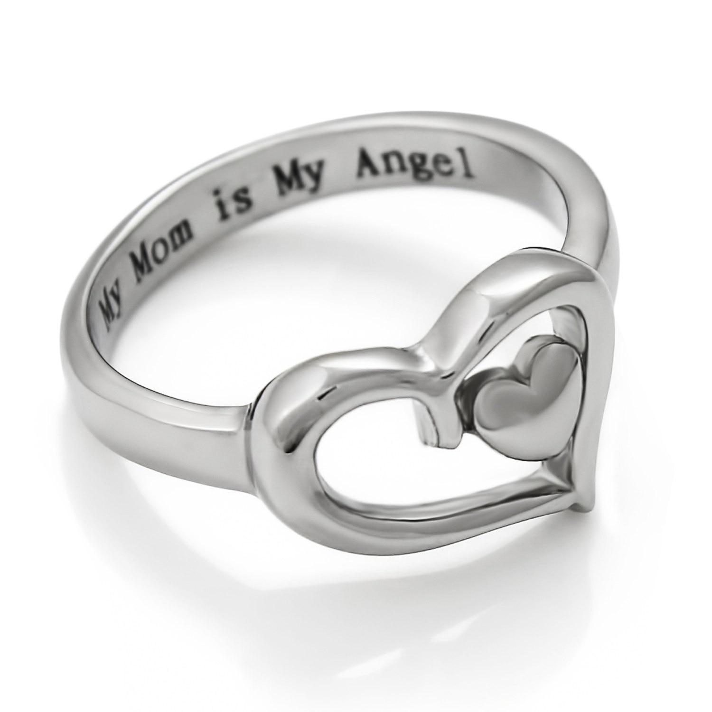 Купить кольцо женское из серебра 2020 пробы с надписью «my mom is my