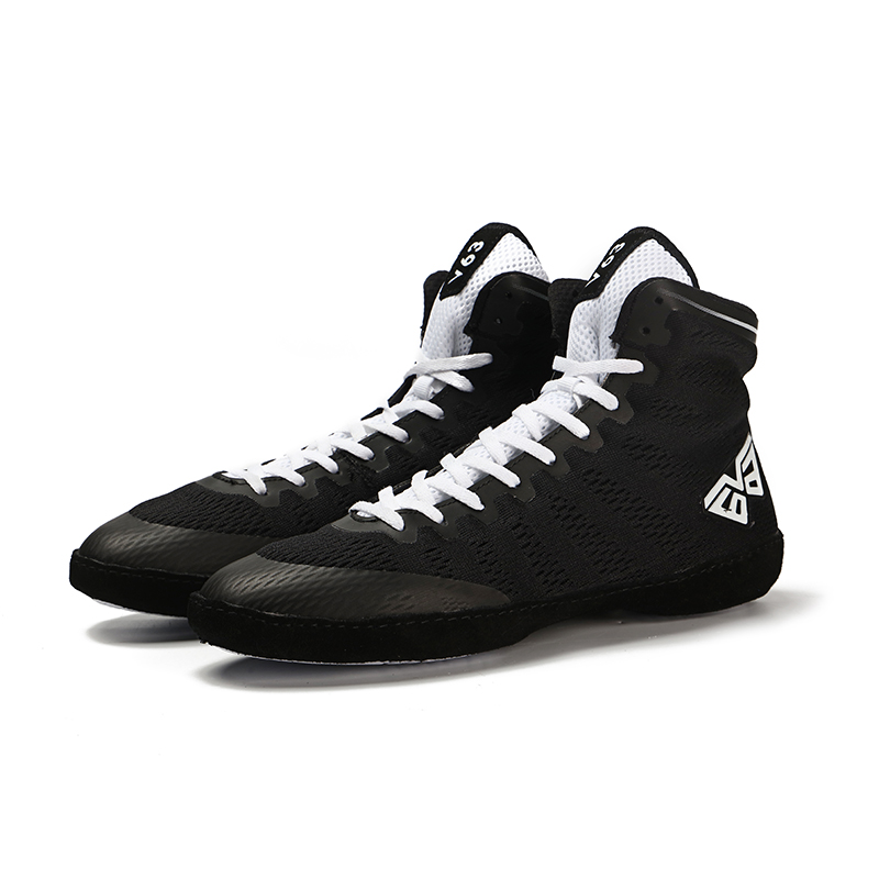Wrestling-Shoes Outdoor Black White Man Men Fighting High-Top Soft Male Sports