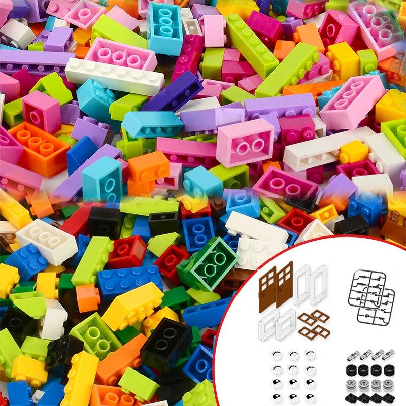 Запасные части для QunLong DIY Classic 1000 + шт. Кубиков, строительные блоки, наборы, базовые креативные наборы Moc, друзья, животные