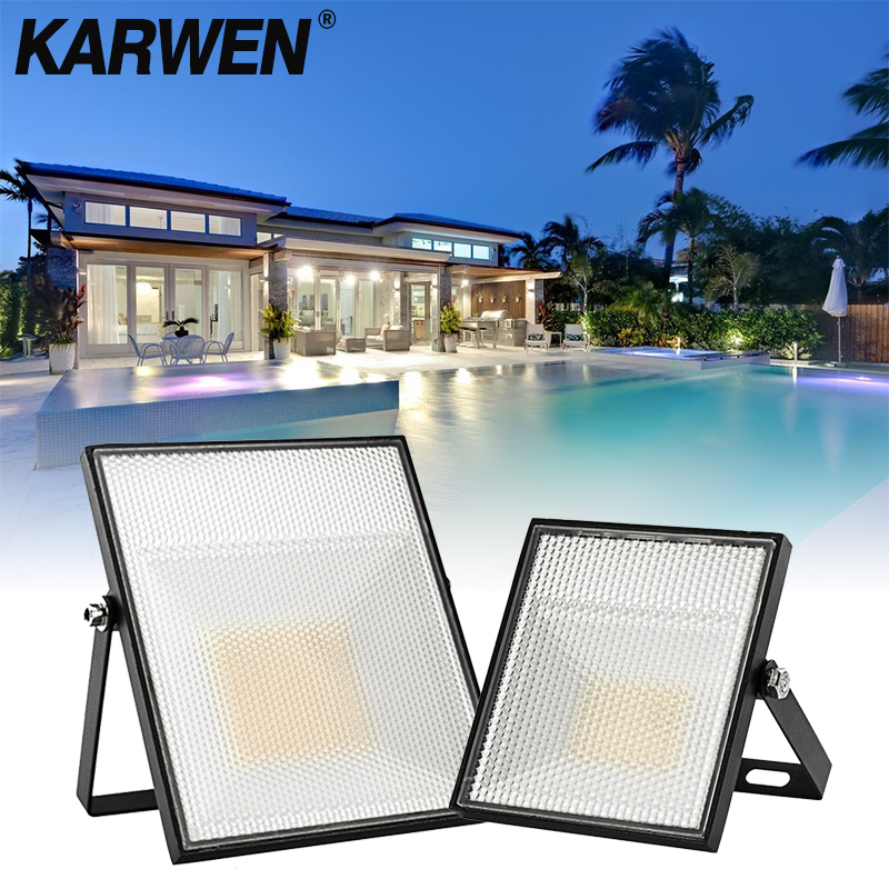<font><b>LED</b></font> Flood Light 15W 30W 45W <font><b>60W</b></font> <font><b>Floodlight</b></font> street Lamp 220V 240V Landscape Lighting waterproof IP65 Reflector <font><b>led</b></font> cast spotlight image