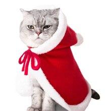 Забавный костюм для кошки, собаки, Рождественский плащ, Маскировка на Хэллоуин, Одежда для кошек, новогодний костюм для маленьких собак, аксессуары для фотосессии домашних животных