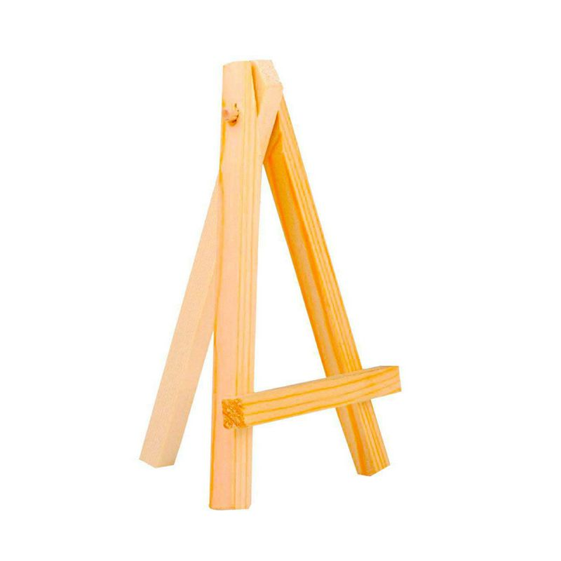 3 by 5 Inch Tiny Wood Easels Set for Paintings Craft Small Acrylics Oil Projects, Pack of 12