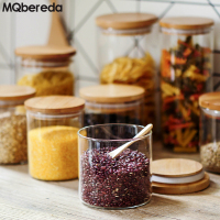 New Transparent Glass Storage Bottle Sealed Cans Snack Candy Milk Powder Cans Tea Food Grains Dried Fruit Storage Tanks