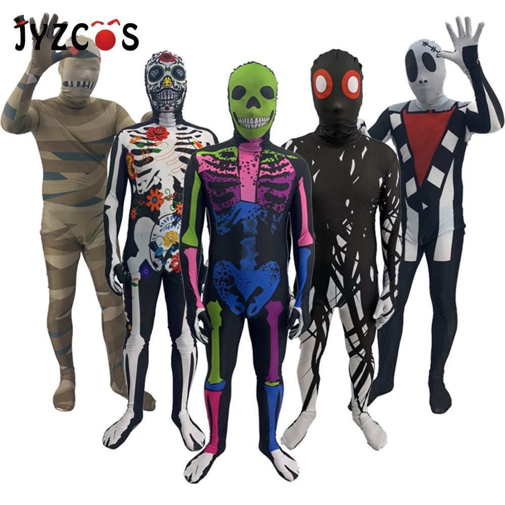 JYZCOS Halloween Cosplay for Men Kids Strange Story Adult Children Play Costume Ghost Series Game Festival Horror Stage Jumpsuit