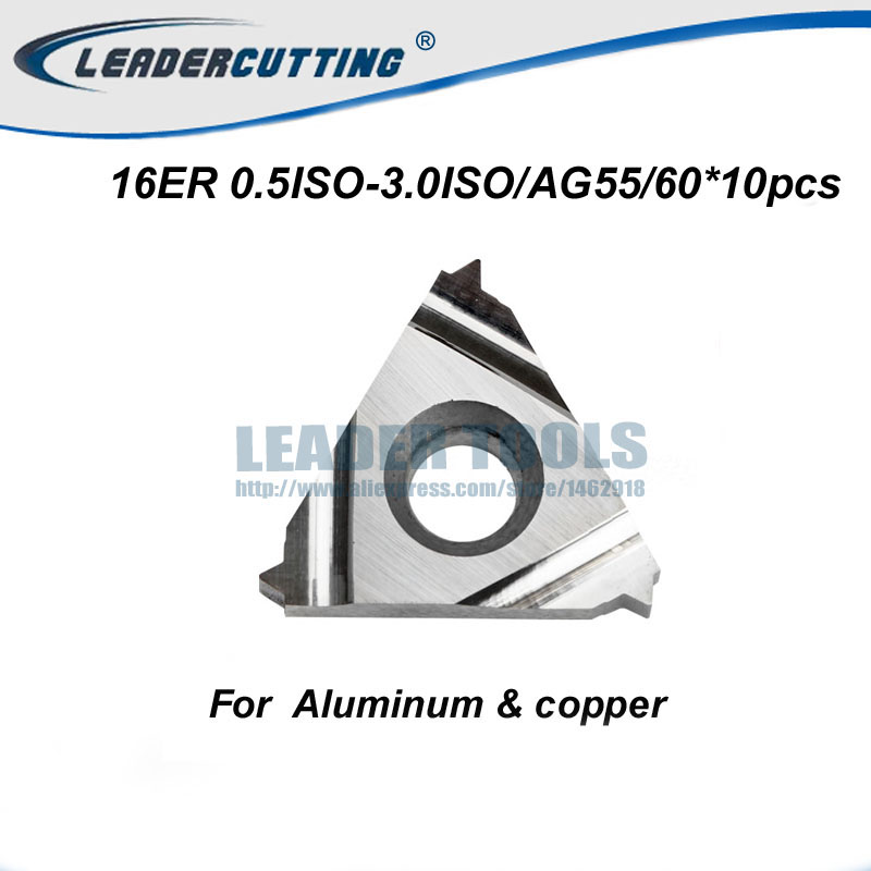 10Pcs DESKAR 11ER 1.0ISO LDA//11ER 1.5ISO LDA Indexable Threading Carbide Inserts