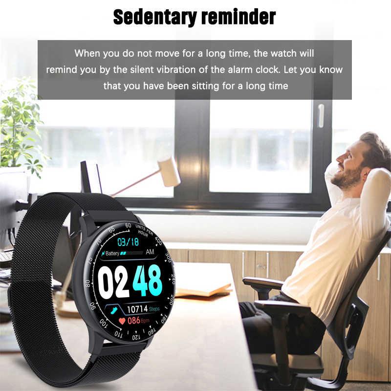 Lige smartwatch ip68, à prova d' água, unissex, esportivo, rastreador de fitness, led, tela cheia de toque para android e ios, saúde